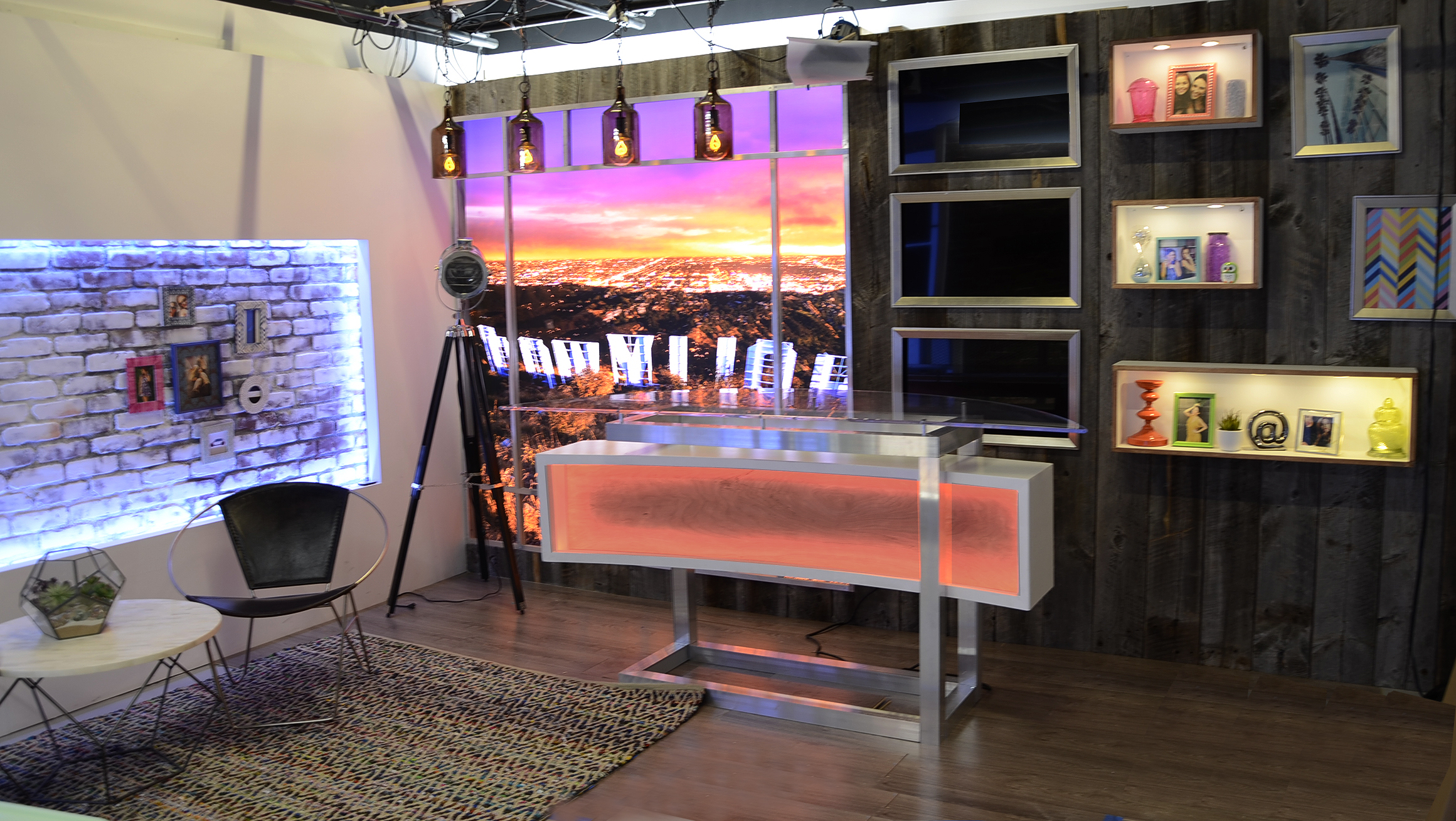 Daily Hollywood Rundown - Clevver TV, Defy Media. Set by Mark Helmuth Design